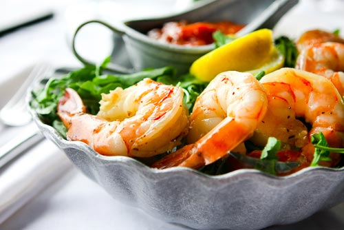 Chilled prawns; just one of our refreshing snacks about 'Rock On'