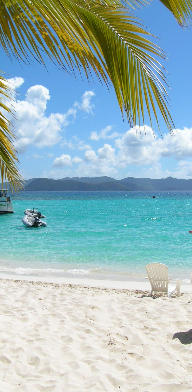 Another surreal view from beautiful Jost Van Dyke looking toward closeby US Virgin Islands